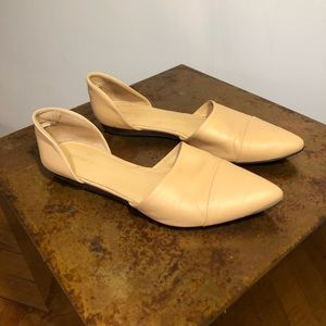 Jenni Kayne d'Orsay Nude Leather Pointed Flats